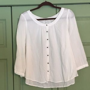 H&M cotton button down blouse. 3/4 sleeves.